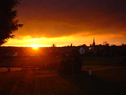 Thaxted B&B - View of the Sunset over Thaxted